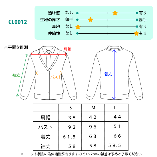 CL0012サイズ